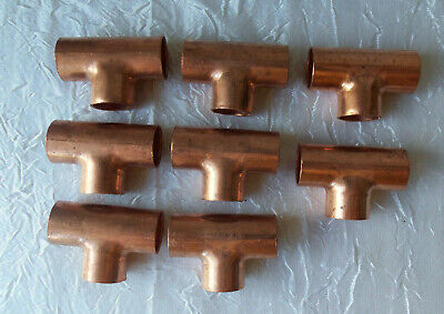 Nibco 12 Copper Tee Pipe Connections Qty 8 Nibco Stock527