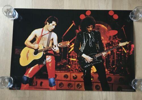Original VTG 1980 Poster Queen Freddie Mercury Pace Scotland International Rare