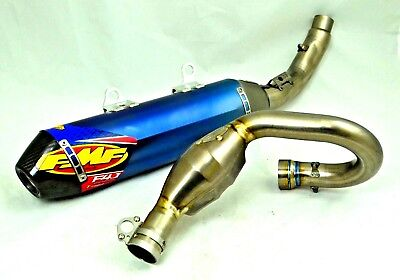 - FMF Factory 4.1 RCT Blue Ti Silencer Exhaust Megabomb Plus Header 18.5 450 SXF