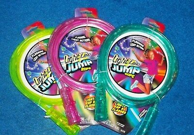 Light Up Jump Rope (LIGHT UP JUMP ROPE LIGHTED JUMP ROPE GIRLS GIFT LIME PINK TEAL NWT ~ US SELLER)