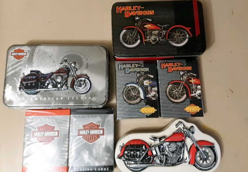 Harley Davidson Motorcycles Limited Edition Collectors Playing Cards & Tins