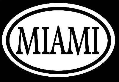 Miami Adhesivo Pegatina Drogas Tropical Vacaciones Playa Arena Luna de Miel Boda