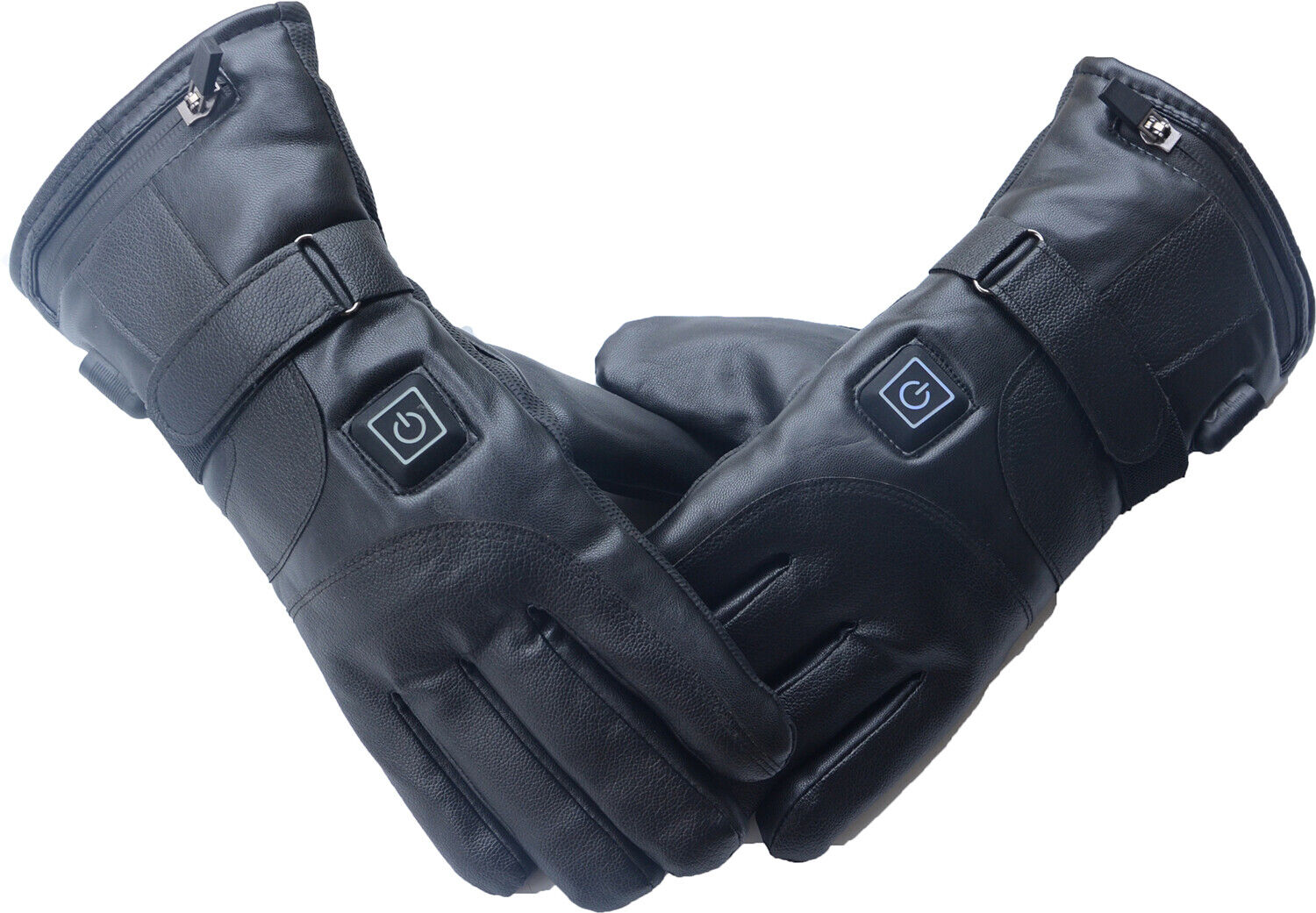 Leather Heated Gloves For Men Women Electric Hand Warmer Motocycle Ski Gloves GI - $25.99