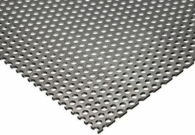 304 Stainless Steel Perforated Sheet 20 Ga. .035 X 12 X 12 - 18 Holes
