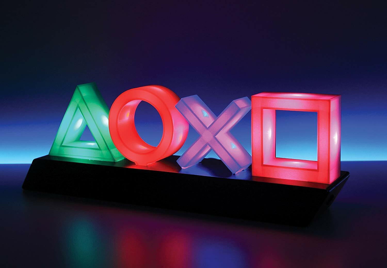 Sony Playstation Icons Leuchte Dekolampe Symbole Nachtlicht Farbwechsel NEU&OVP