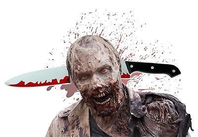 Haarreif Kostüm Halloween für Herren und Damen blutiges Messer Verkleidung ()