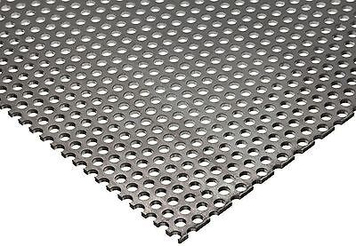 304 Stainless Steel Perforated Sheet .035 20 Ga. X 8 X 12 - 18 Holes