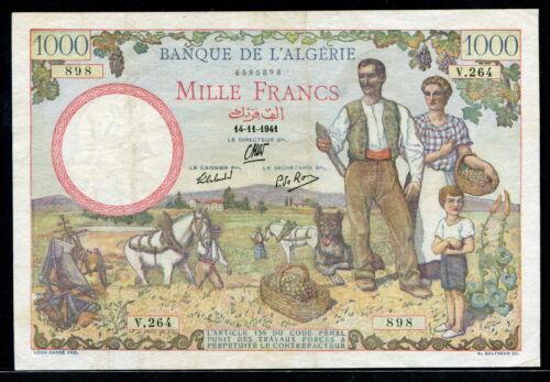 Algeria 1941, 1000 Francs, P86, VF