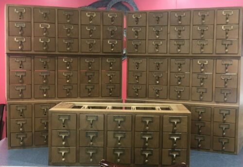 Brodart Card Catalog, 15 Drawer Modular Section (4 available) - FREE SHIPPING!