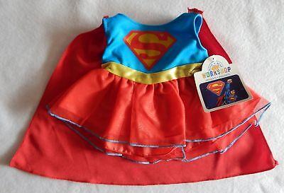 NEW Build A Bear Clothes Super Girl Girl's Superman Costume Cape Super Hero NWT (Build A Bear Superhero)