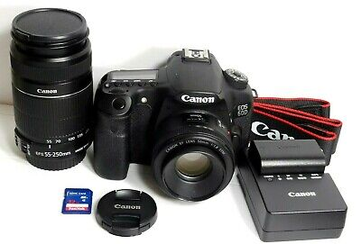 Canon 60D 18.0MP EOS Digital Camera with 2 Lenses 50mm 1.8 & 55-250mm. EXCELLENT