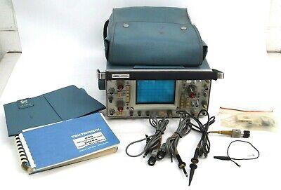 Tektronix 465 Portable Dual Trace 2-channel Oscilloscope 100mhz W Probes Manual