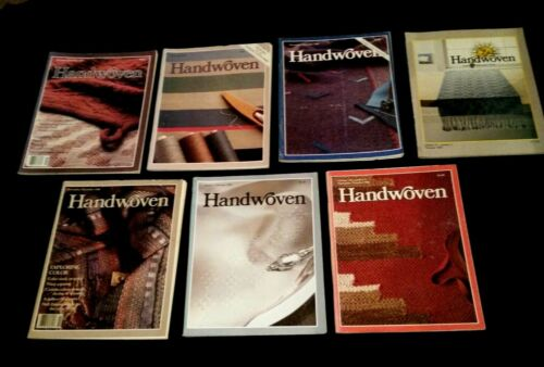 7  issues  HANDWOVEN Magazine 1983, 1986,1987, 1988, 1989,