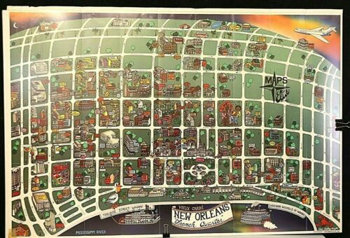 Poster / Map - New Orleans - VIEUX CARRE - New Orleans the French Quarter