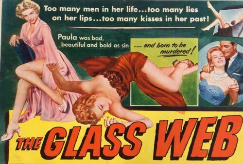 GLASS WEB LOBBY CARD SET (8) MOVIE POSTER 1953 E G ROBINSON NOIR CRIME