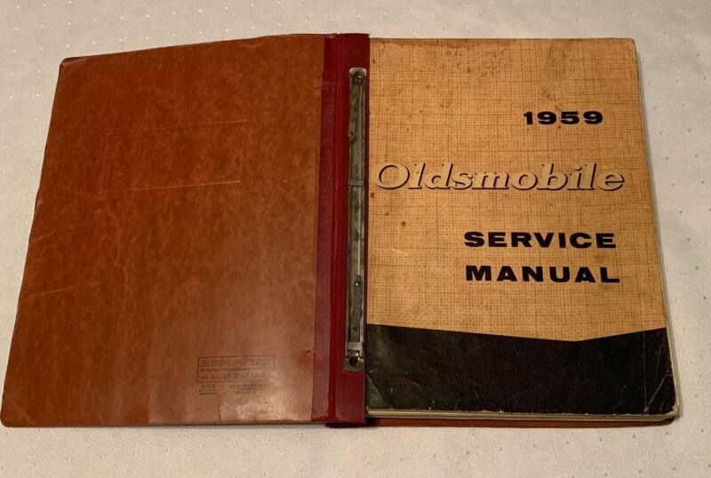 1959 OLDSMOBILE SERVICE MANUAL Service Department General Motors Book