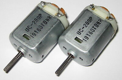 2 X Uc-280p 12vdc Electric Automotive Dc Motor - Knurled Shaft - Noise Capacitor