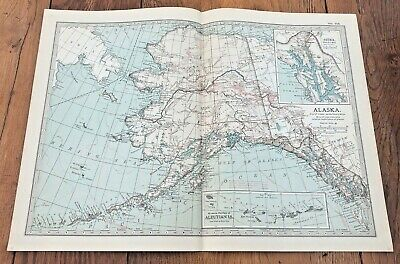1903 large colour fold out map titled