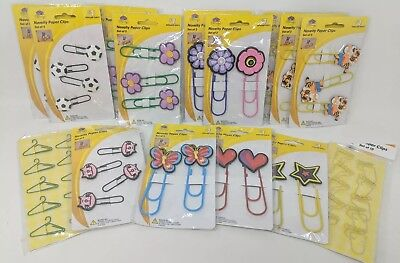 Novelty Paper Clips Bookmarks Teachers Memo Holders Lot Of 57 Clips New