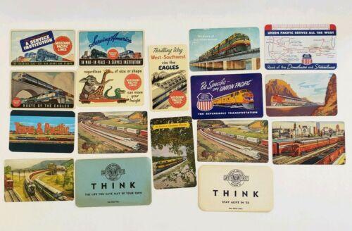 Vintage 1944-1957 Railroad Pocket Calendars (17)