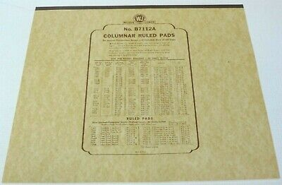 Vintage Wilson Jones B7112a Columnar Ruled Pads 50 Sheets Pad 17 X 14 12 Column