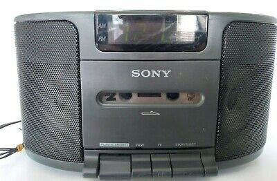 SONY Dream Machine AM/FM Clock Radio With Cassette Player & Dual Alarm ICF-CS650