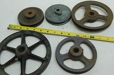 Lot Of 5 Congress Browning V-belt Pulley Fixed Width Various Sizes Ap Free Ship