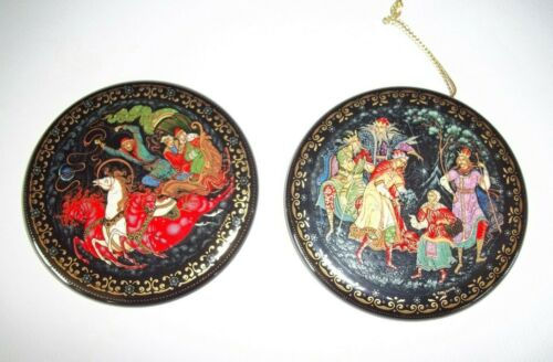 Russian Treasure Ornament set with papers and boxes Palekh  Alexei Kochupalov