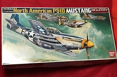 """""""North American P-51D Mustang"""" 1/24 Bandai  for sale  Shipping to Canada"""