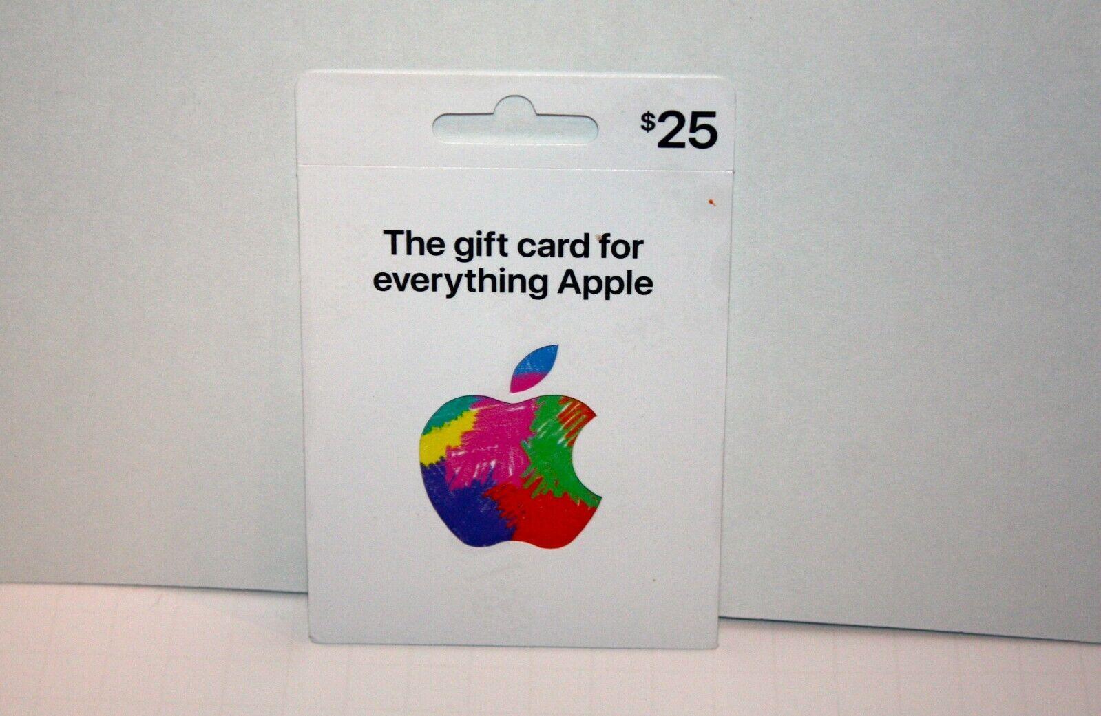 Apple 25/Twenty Five Dollar Gift Card - $25.00