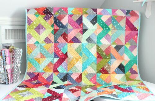 RADIATING SQUARES ~ New Handmade Baby Girl Quilt / Crib Quilt