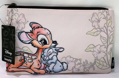 Loungefly Disney Bambi Thumper Flower Makeup Bag Watercolor Pouch