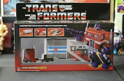 G1 TRANSFORMERS - OPTIMUS PRIME Reissue KO - Brand New In Box USA SELLER