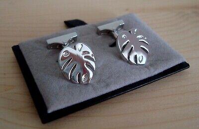 Silber look Massimo Dutti Design Qualität Manschettenknöpfe Markenschmuck Unisex