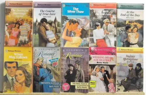 Lot of 10 Romance Books By BETTY NEELS FREE US S/H Read List Lot #H710