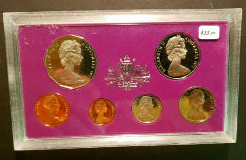 Australia 1977 Proof Set with Silver Jubilee 50 Cent coin!  PS-39 FREE SHIPPING!