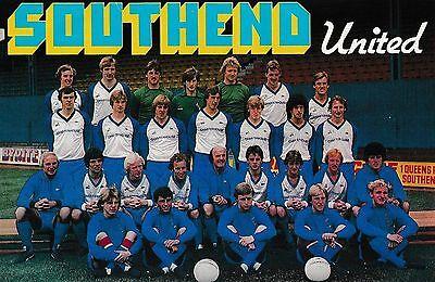 SOUTHEND UNITED FOOTBALL TEAM PHOTO 1980-81 SEASON