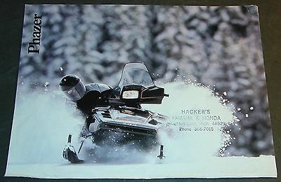 YAMAHA PHAZER  SNOWMOBILE SALES BROCHURE 4 PAGES     (788)
