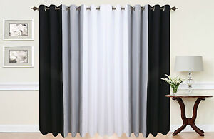 PAIR-OF-3-TONE-FULLY-LINED-RING-TOP-EYELET-CURTAINS-IN-WHITE-BLACK-GREY