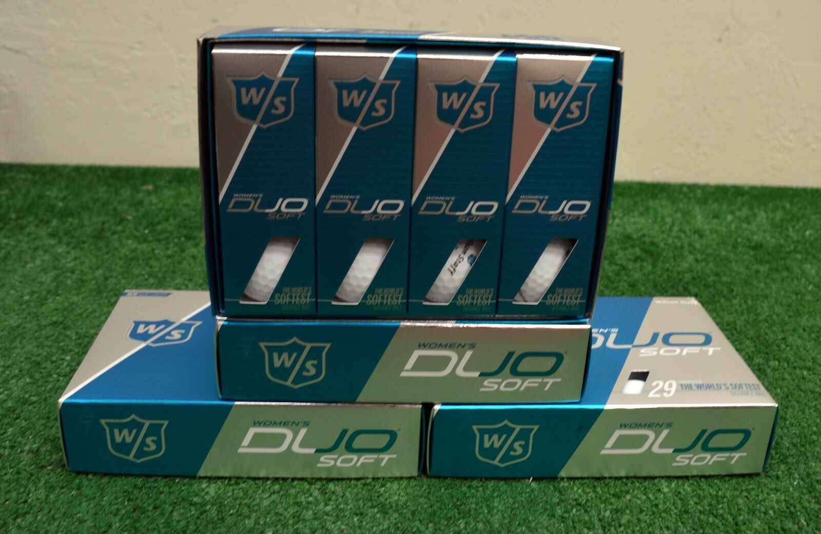 4 Dozen Wilson Staff Duo Soft Women's- Matte White Golf Ball