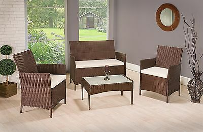 Garden Furniture - RATTAN GARDEN FURNITURE SET CHAIRS SOFA TABLE OUTDOOR PATIO CONSERVATORY WICKER