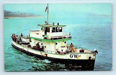 Redondo Beach, CA - DEEP SEA SPORT FISHING - GW BOAT SHIP - POSTCARD - Q7