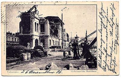 1906, AK, Chile, Gobernación Marítima de Valparaíso, Verlag M. Heydel, gelaufen