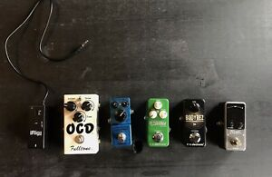 Various Mini Guitar Pedals. Keeps your Board Small