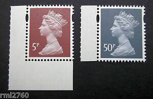 2013 MACHINS 5p 50p from MERCHANT NAVY PSB - Mint Single Stamps U3012, U3017