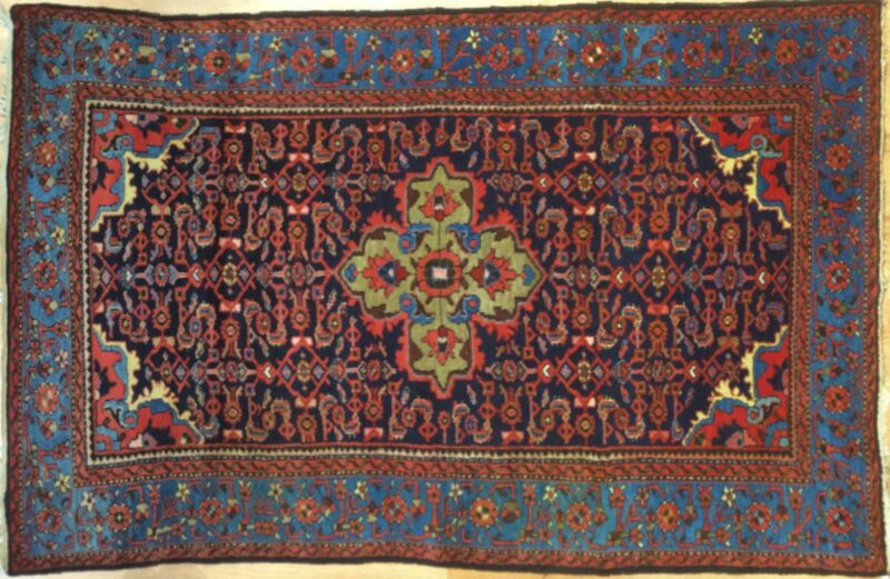 Marvelous Malayer - 1920s Antique Hamadan Rug - Persian Tribal Carpet 4.9 X 6.4