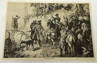 1882 magazine engraving ~ THE ROBBER MAIDEN ~ Spain