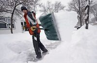 Snow shovelling services