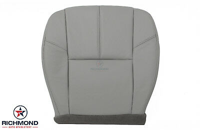 2011 Chevy Silverado 1500 2500 HD LT -Driver Side Bottom Leather Seat Cover Gray