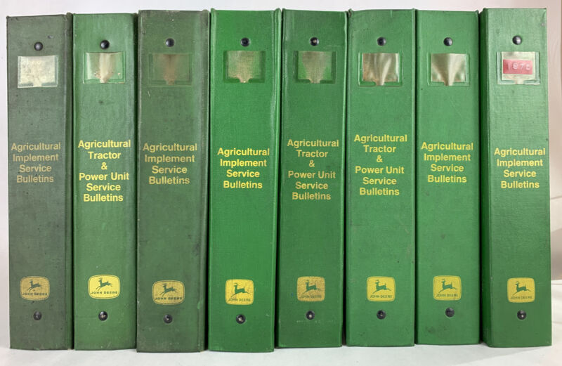 John Deere Tractor Agricultural Implements Service Bulletins